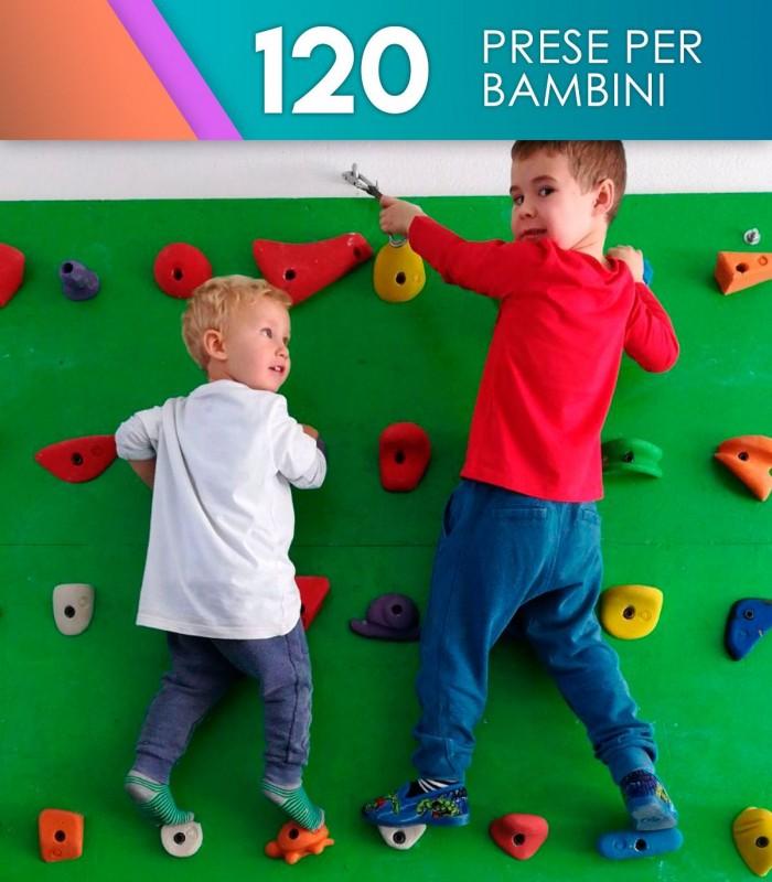 Confezione da 120 prese per bambini